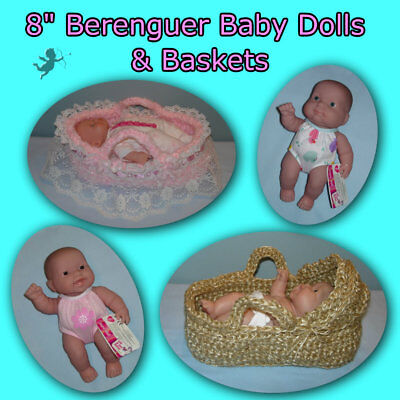 """Cute BASKETS with Tuffed Pad for 8"""" Baby Doll Handmade by the Crafty Grandmas"""