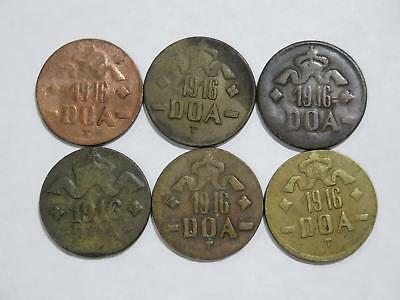 German East Africa Deutsch Ostafrika  20 Heller Mixed Type Coin Collection Lot