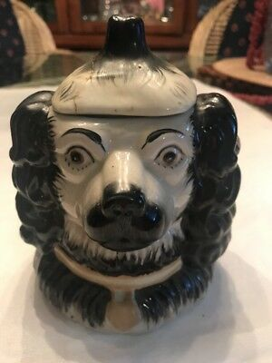 RARE YFSL Antique Reproduction Unusual Double Sided Black Dog Big Ears