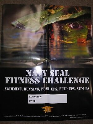 POSTER, NAVY SEALS, FITNESS CHALLENGE, 24 inches X 30 inches-quadra fold creases