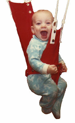 Ceiling OR Doorway~Compact~Cotton seat~Merry Muscles Baby Jumper Exerciser NEW