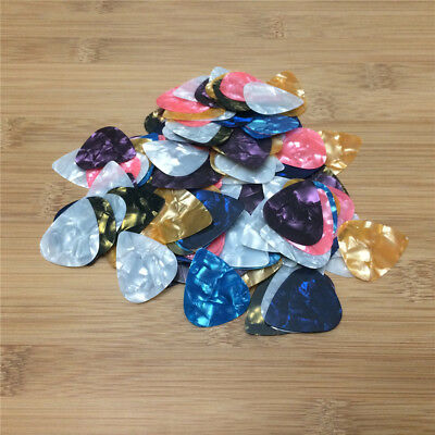 100X Lightweight Celluloid Colored Smooth Guitar Picks Plectrum 0.46mm