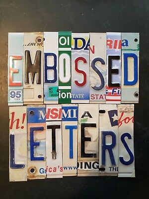 Embossed License Plate Letters $1.50 to 2.50 Ea. & Numbers $1.00 Ea.