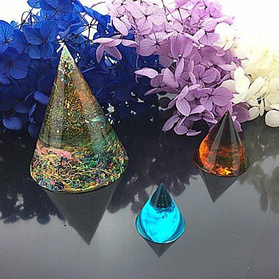 Cone Silicone Mould DIY Resin Decorative Mold Craft Jewelry Making Mold Tool CU