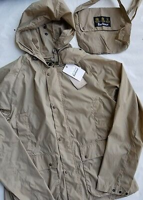 Barbour Men's Croston Military Brown Packable Lightweight Jacket RainCoat XL