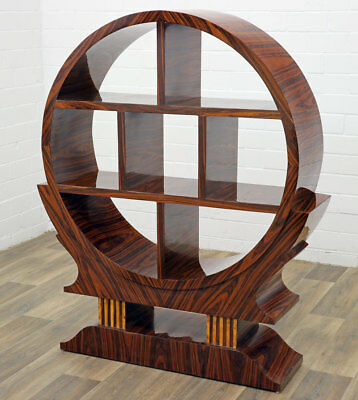 ART DECO BÜCHERSCHRANK ● REGAL MÖBEL rund ● Art Déco round BOOKCASE, BOOKTOWER