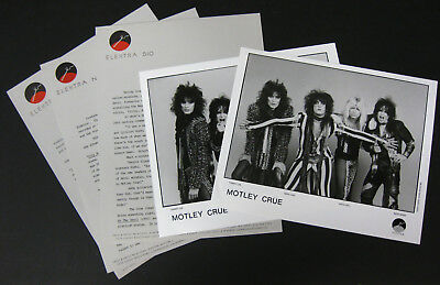 MOTLEY CRUE Theatre Of Pain 1985 US Promo PRESS KIT Vince NEIL Tommy LEE Metal