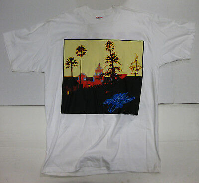 THE EAGLES Hotel California 1996 CONCERT T-SHIRT Tour Merch HELL FREEZES OVER
