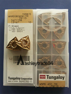 10pcs NEW Tungaloy WNMG080404-TM T9115 CNC Carbide Inserts