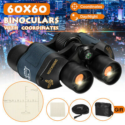AU60X60 Marine Night Vision Binoculars Wide Field 8.2 Hunting Telescope New AU