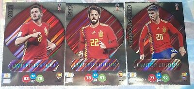 3 limited edition Asensio Koke Isco Adrenalyn XL Russia  world cup