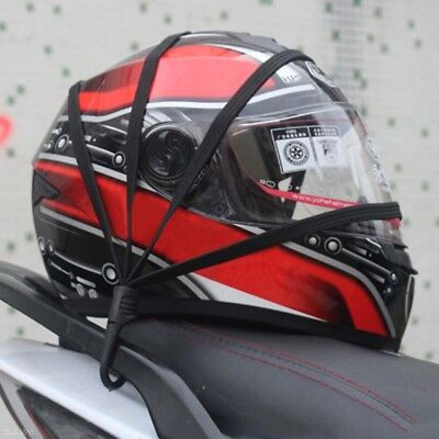 Motorcycle Retractable Helmet Luggage Elastic Rope Strap Net Holder Hook Buckle