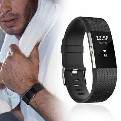 Fitbit Charge 2 Silicon Band Strap Wristband For Fitness Tracker Replacement S L