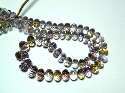 AAA Ametrine Faceted Rondelles 8mm To 14mm 17 Inch Full Strand 55 Pieces Approx