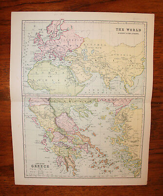 Lot –  3 Maps Of The Ancient Greek & Roman World