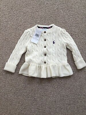 Baby Girls Cardigan 12months Ralph Lauren New with tags