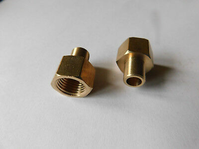 1 x 3/8 NPT Female to 1/4 NPT Male Brass Reducer /  Connector