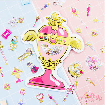 Anime Sailor Moon Magic Wand Stick Stationery Stickers DIY Scrapbooking Diary