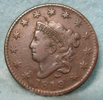 1819/8 Coronet Head Large Cent VF Details Rotated Reverse * US Coin *