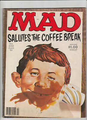 MAD Magazine #222 Apr 1981 That's Incredible COFFEE BREAKS Dressed to Kill etc
