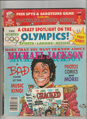 CRACKED Magazine 100 page OLYMPICS Special SPYS & SABOTEURS Game MICHAEL JACKSON