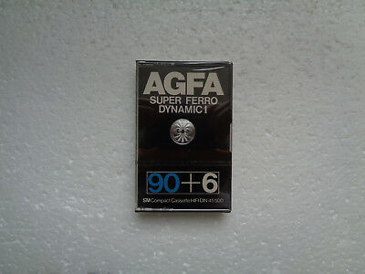 Vintage Audio Cassette AGFA Super Ferro Dynamic 90+6 * Rare From 1979 *