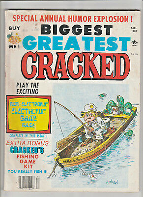 CRACKED Magazine Annual Fall 1981 Non-Electronic Electronic Game FISHING GAME