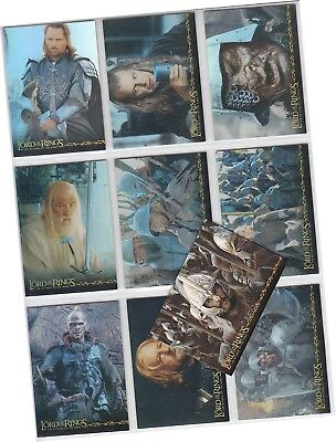 "LOTR The Return Of The King - 10 Card ""Prismatic Foil"" Chase Set 1/10-10/10"