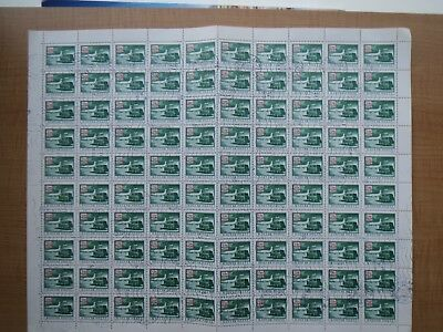HUNGARY  POSTAGE DUE STAMP SHEET of 100  issued 1973