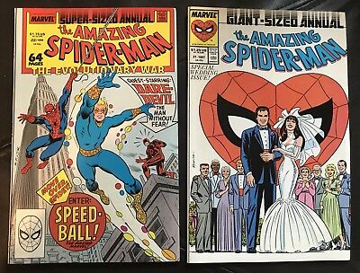 Spider-Man lot of 2 Marvel Comics #21 Giant Size Annual & #22 Super Sized Annual
