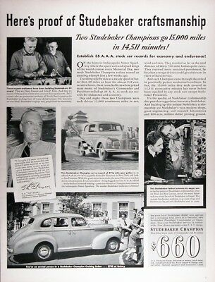 1939 STUDEBAKER CHAMPION Genuine Vintage Advertisement ~ $660 Coupe $740 Sedan