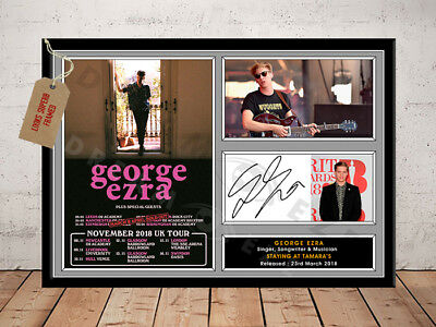 GEORGE EZRA SIGNED Photo Print STAYING AT TAMARA'S TOUR 2018 Free Postage