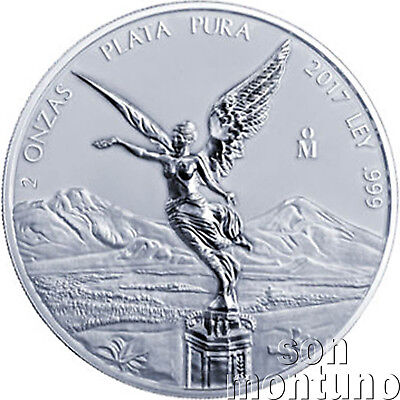 2017 Mexico - 2oz Libertad REVERSE PROOF Silver Coin FIRST YEAR Only 2000 pieces