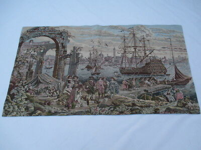 Old French / Belgium Tapestry Wall Hanging - 120 x 89 cm ( 4558 )