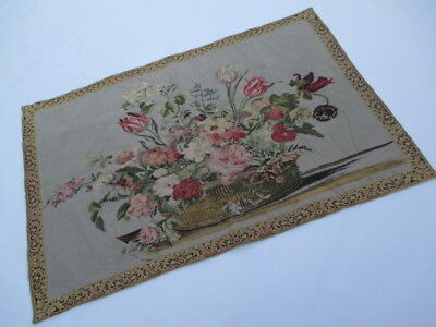 Old French / Belgium Tapestry Wall Hanging - 134 x 90 cm ( 4601 )