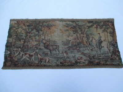 Old French / Belgium Tapestry Wall Hanging - 147 x 70 cm ( 4605 )