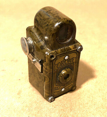 """Brown Coronet Midget Subminiture Camera-PARTS/REPAIR-SOLD """"AS-IS"""""""