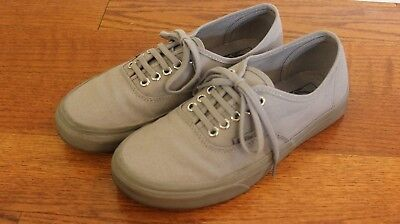 4bb100ed72 Vans Authentic Primary Mono Gray Grey Mens 6.5 Womens 8 Canvas Skate Shoes  Used