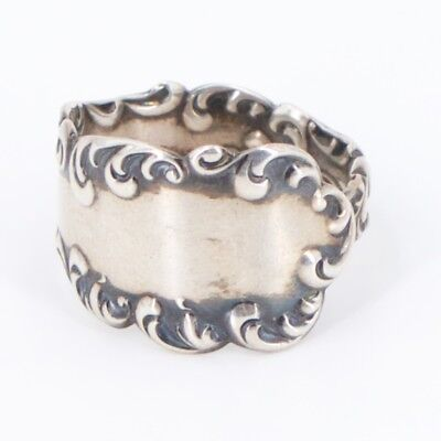 VTG Sterling Silver - Antique Filigree Spoon Handle Ring Size 11 - 7g