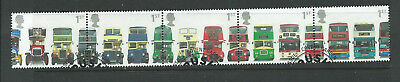 GB 2001 - Double Decker Buses - Set as strip - very fine used