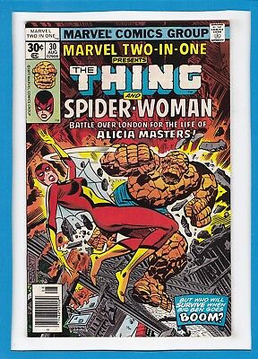 MARVEL TWO-IN-ONE #30_AUG 1977_VF MINUS_THE THING_2nd APPEARANCE SPIDER-WOMAN!