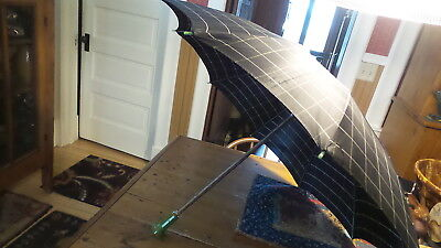 Vintage BAKELITE HANDLED UMBRELLA Apple Green