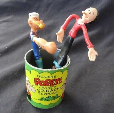 1979 King Features Syndicate Stretch Popeye & Olive Oyl Canned Spinach Surprise