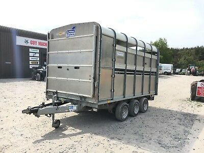 USED Ifor Williams DP120 12ft Livestock Cattle trailer