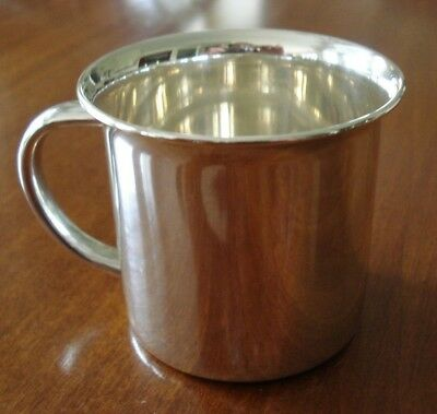 Towle Sterling Silver Child's Baby Cup 778 Brushed Finish Inside No Monograms
