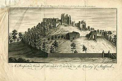 perspective  view of Dudley Castle in the County of Stafford grabado por J. Hint