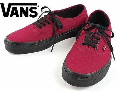afeae8c4c65 VANS AUTHENTIC UNISEX Black Sole Jester Red Skate Shoe Brand New In ...