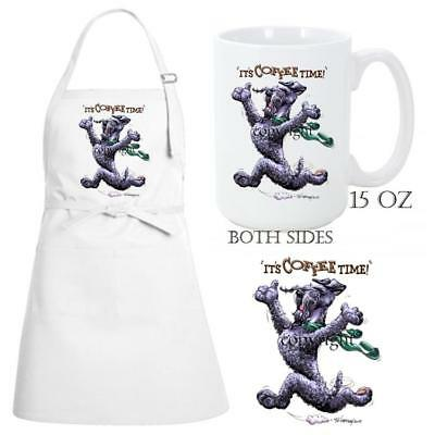 Kerry Blue Terrier Dog Coffee Time Kitchen Chef Apron & Ceramic Mug Gift Set