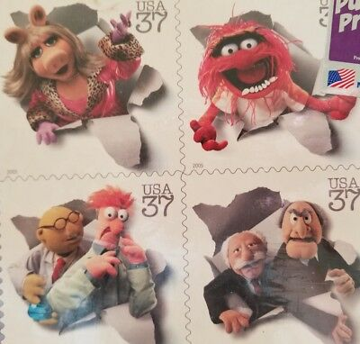 VTG '06 Muppets NWT Postage Stamps Puzzle USA Miss Piggy Animal Bunsen Waldorf..