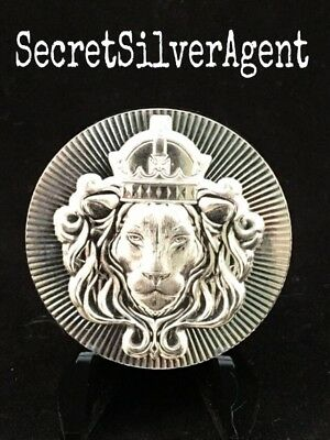 2 oz .999 Silver Scottsdale Stacker BU Round Ultra High Relief - FREE SHIPPING